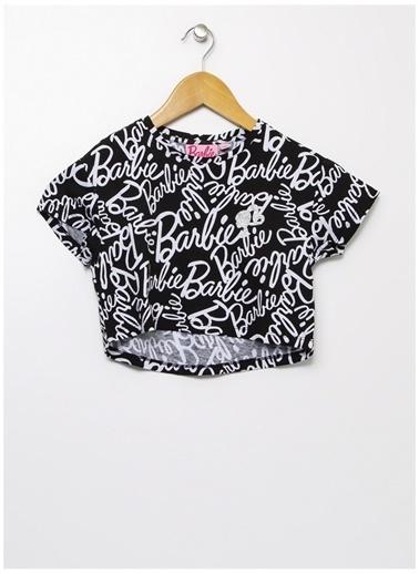 Barbie Barbie Bisiklet Yaka Siyah T-Shirt Siyah